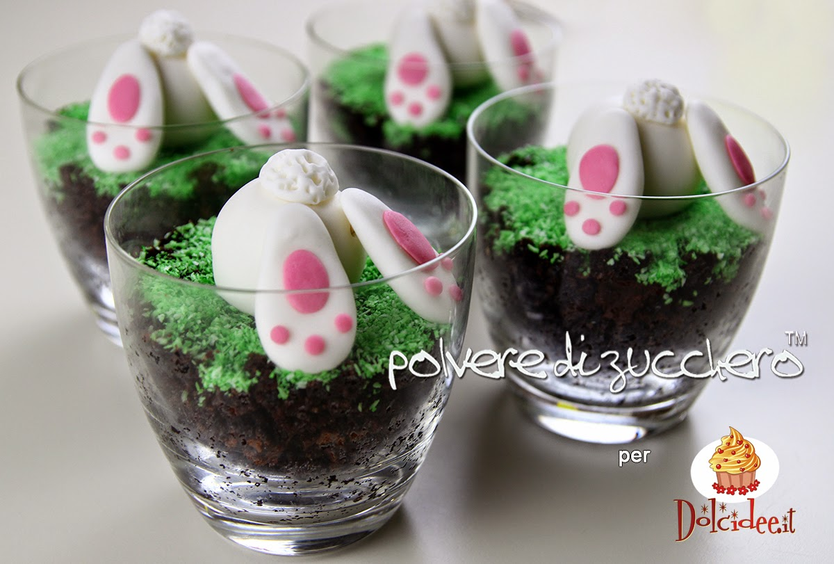 dolcidee.it community polvere di zucchero pasqua tutorial passo a passo coniglietto pasquale dolce cake dolce al cucchiaio