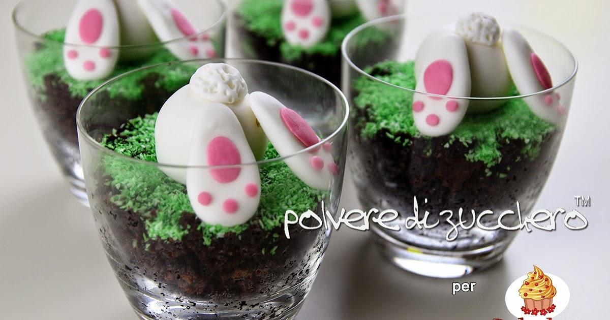 Cake Design Ricette Pasta Di Zucchero : Tutorial bicchieri di torta con coniglietto in pasta di ...