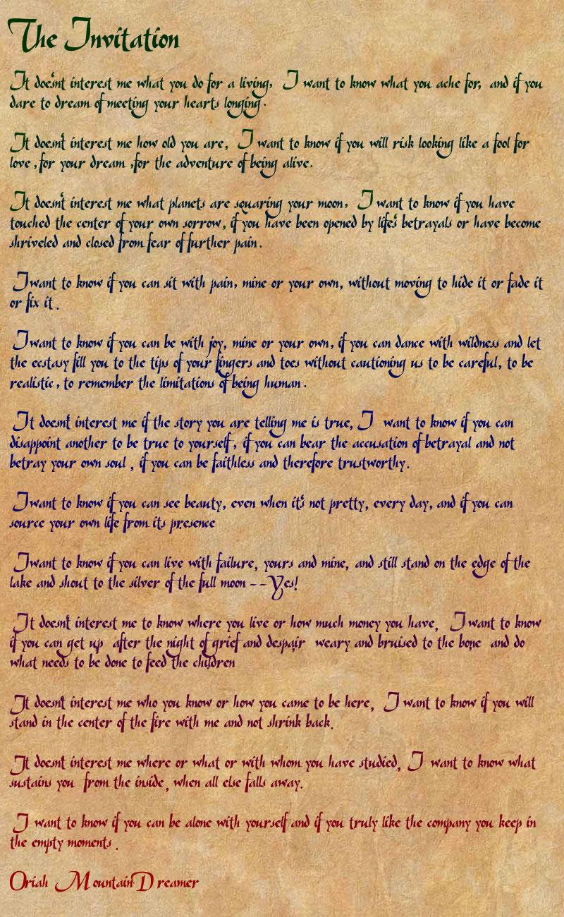 Invitation By Oriah as amazing invitation ideas
