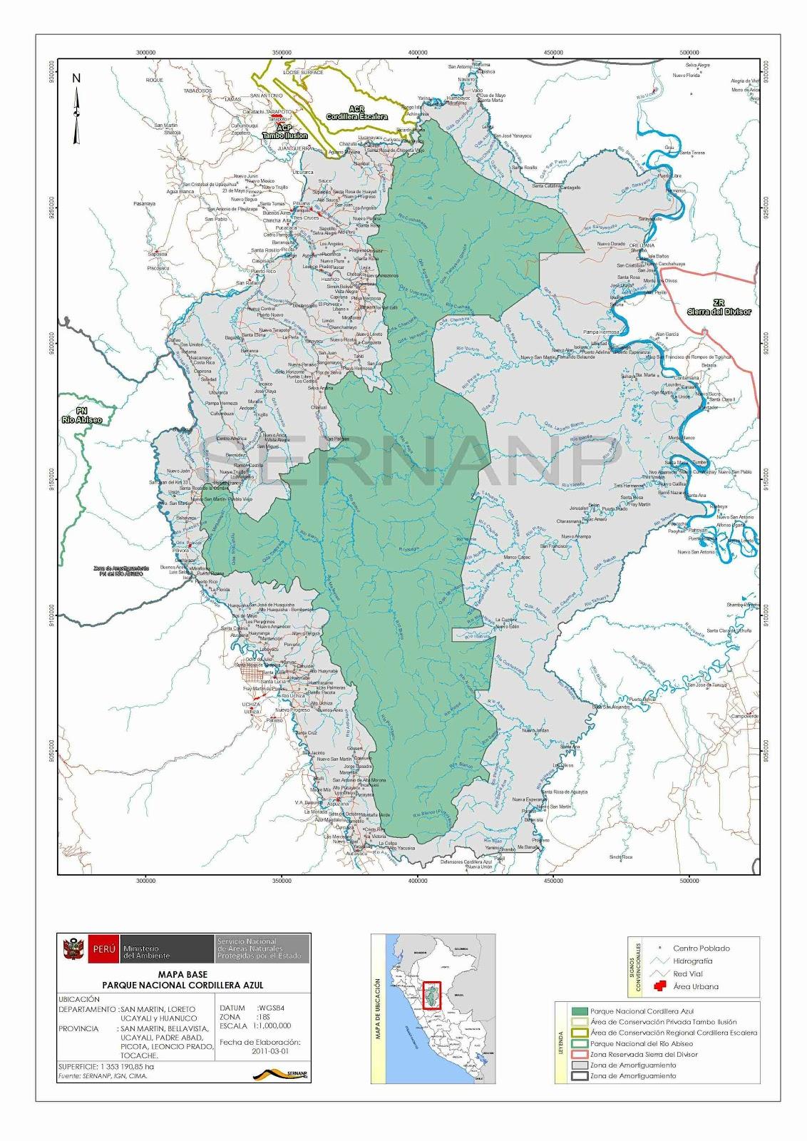 cartografia digital de peru 1  100000  parque nacional