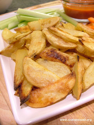 5 Step to Crispy Oven Roasted Buffalo Potato Wedges