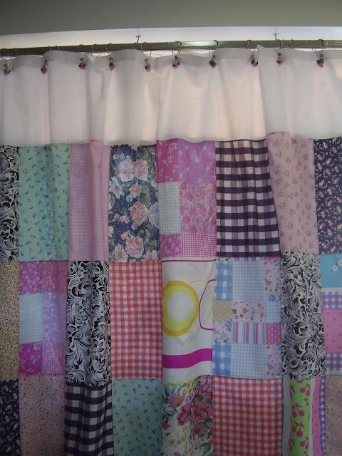 Cortinas De Baño Faciles De Hacer:Pam Pam: Cortinas de baño patchwork