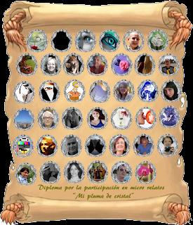 Premio de participación en el Blog de  María... http://miplumadecristal.blogspot.mx/