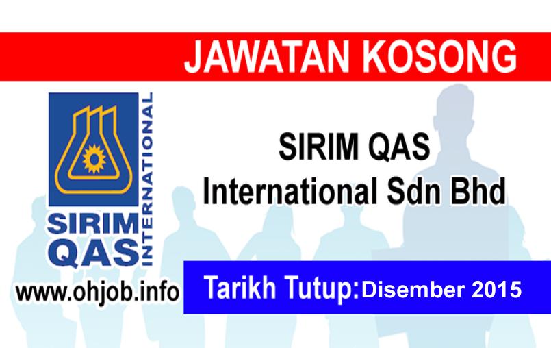 Jawatan Kerja Kosong SIRIM QAS International logo www.ohjob.info disember 2015