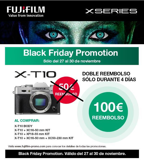 aed22d176d4 Fujifilm se suma al Black Friday 2015 con el descuento que se detalla en la  creatividad que encabeza esta entrada. Una buena oportunidad para conseguir  tu ...