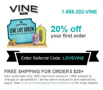 vine.com coupon discount code