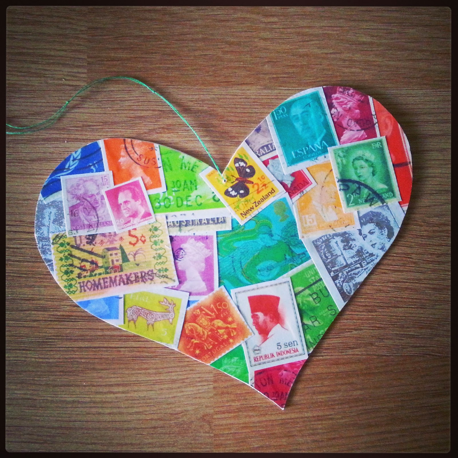 DIY decoupage heart