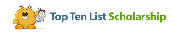 Top Ten List Scholarship