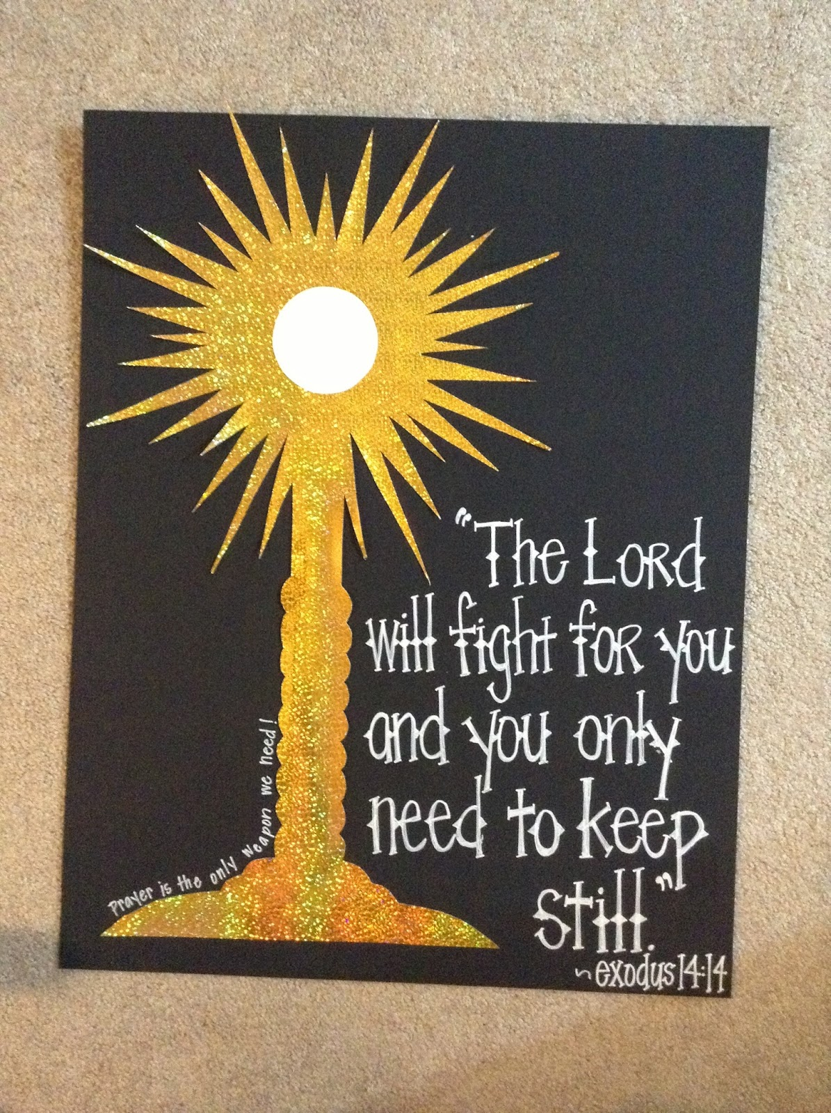 look to him and be radiant  armor of god decorations