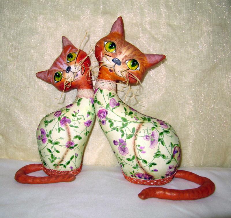 Мои любимые рукоделки от души и для души: Влюбленные кошечки.