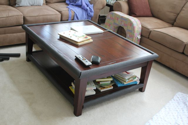 beauty in the ordinary diy table bumper pipe insulation. Black Bedroom Furniture Sets. Home Design Ideas