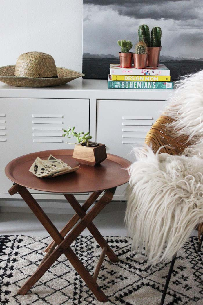 http://www.poppytalk.com/2015/06/diy-ikea-hack-copper-end-table.html