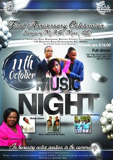 ***1ST ANNIVERSARY BANQUET CELEBRATION M.A.D. MUSIC LLC