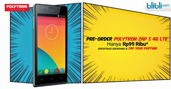 Polytron Zap 5: Handphone 4G Canggih dengan Harga Terjangkau