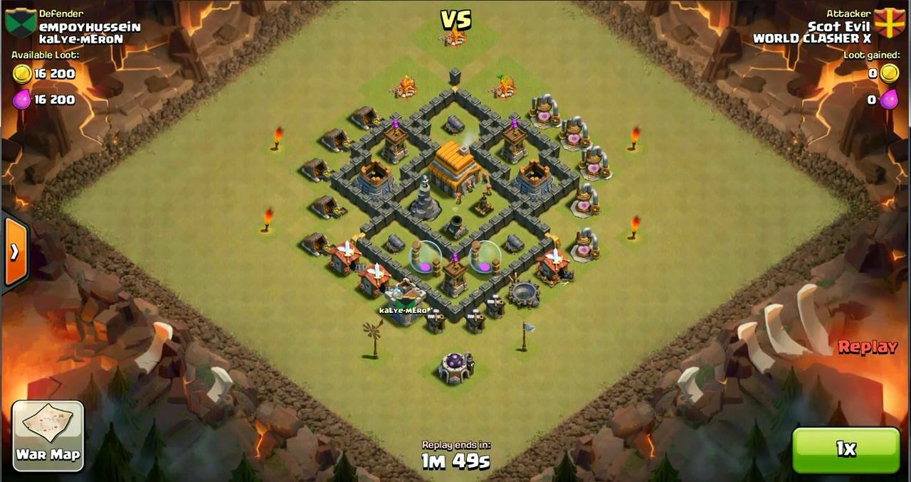 Clash of Clans Strategy : Base War TH 5