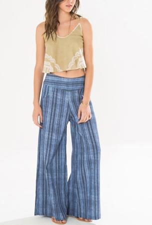 Farm verão 2016 coleção shibori calca pantalona estampada