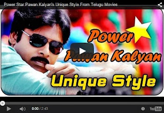 Power Star Pawan Kalyan's unique style From Telugu Movies | Latest News | HD Video