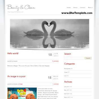 Beauty And Clean blogger template convert from wordpress theme to blogger. minimalist blogger template.
