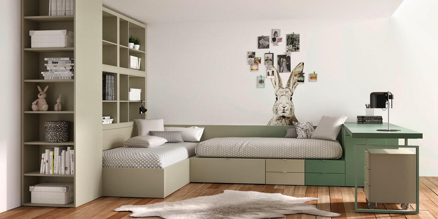 Dormitorios infantiles y juveniles para ni as ni os y jovenes de 6 7 8 9 10 11 12 a os - Dormitorios juveniles dobles ...