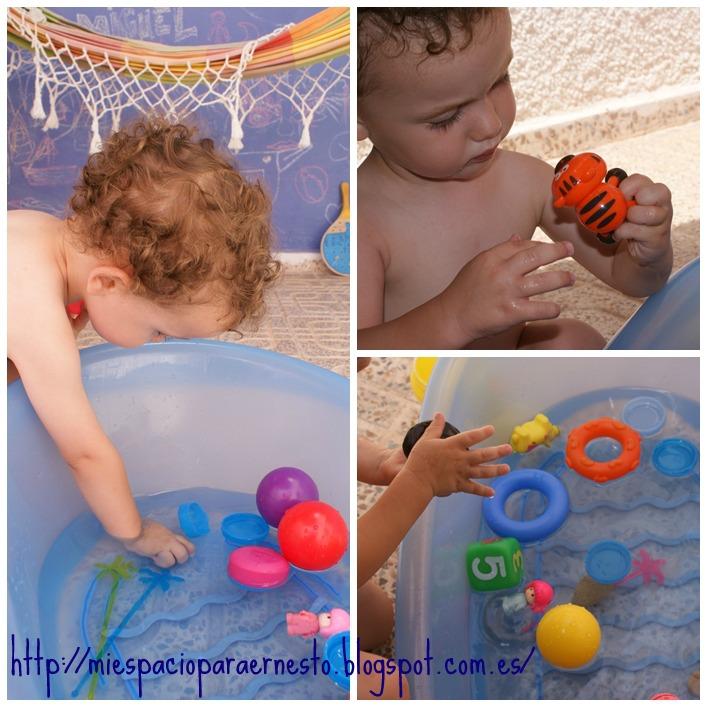 Mi espacio para ernesto piscina sensorial for Piscinas plastico duro
