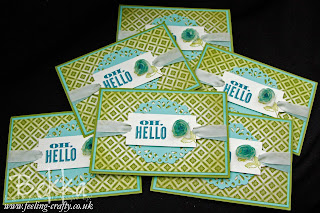 Oh Hello Team Welcome Cards from Stampin' Up! Demonstrator Bekka Prideaux - find out about joining her team here