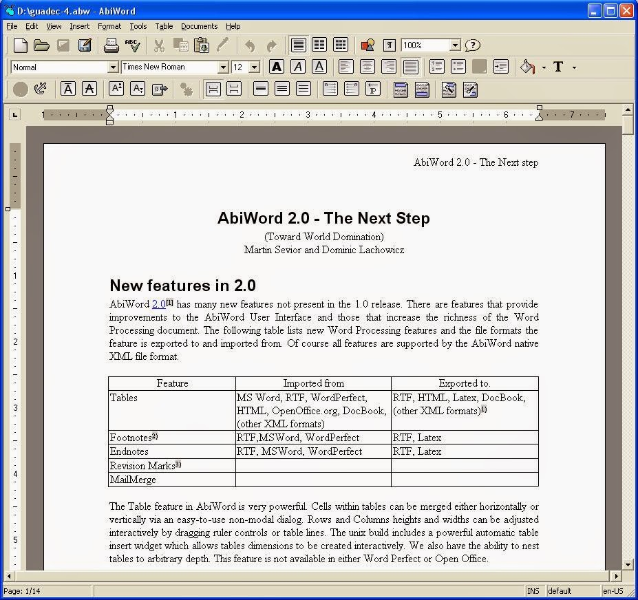 abiword 2014 2 94 software abi word screenshot