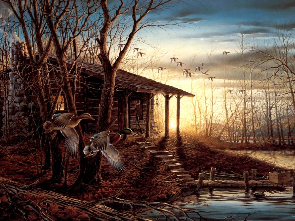 Terry redlin art photos art for Classic house wallpaper