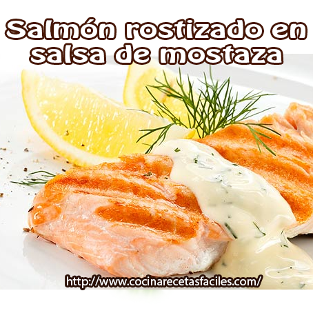 Recetas de Pescados y mariscos,  recetas rápidas, recetas sanas, salmón, mostaza