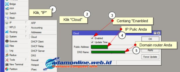Cara Setting IP Cloud MikroTik