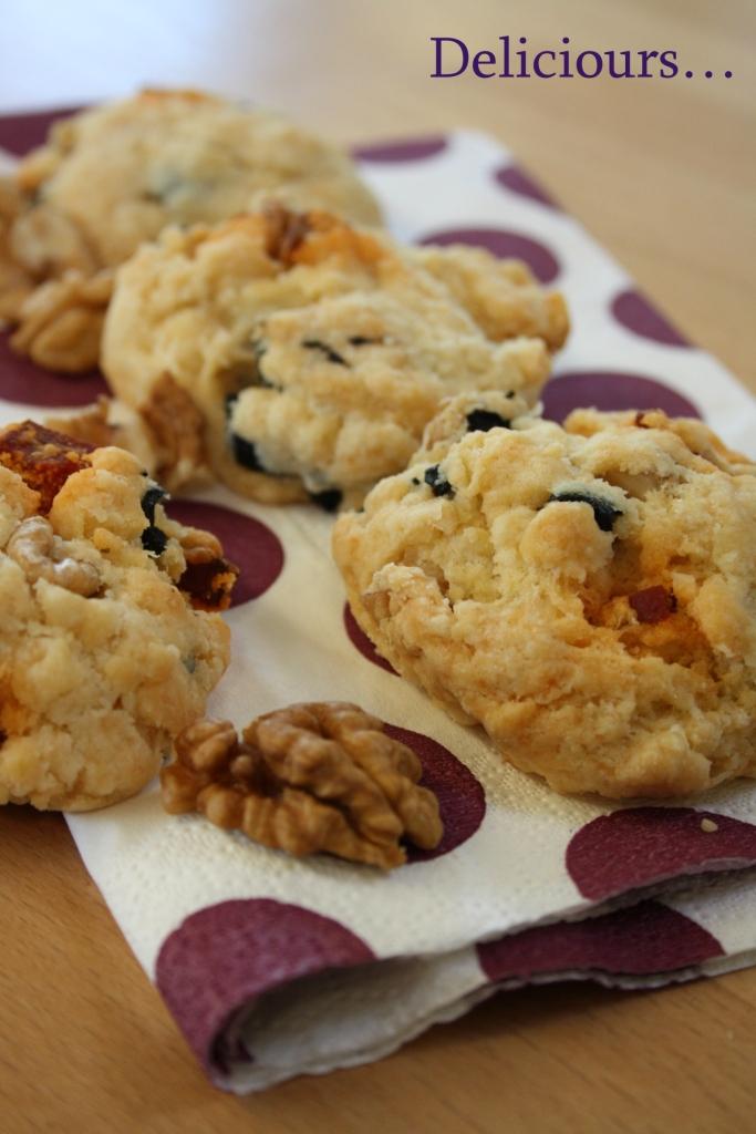deliciours cookies aux noix chorizo olives noires et parmesan. Black Bedroom Furniture Sets. Home Design Ideas