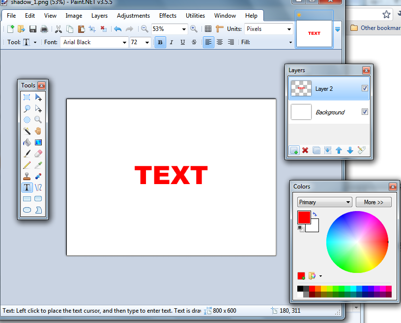 how to put layers in paint.net