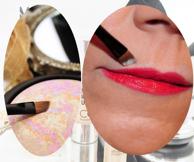 Reflexte Lippen rot