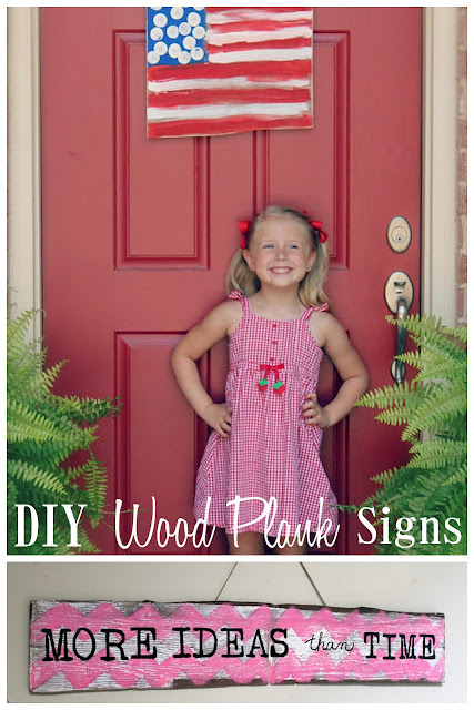 DIY Wood Painted Plank Signs (Home Decor Ideas) 