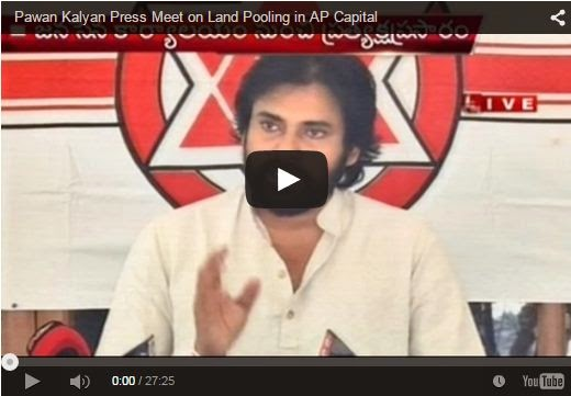 Pawan Kalyan Press Meet on Land Pooling in AP Capital | Full Video
