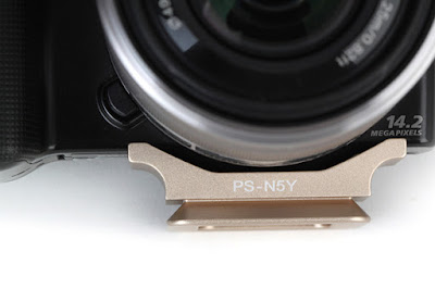 Sunwayfoto PS-N5 on SONY NEX-5 front - closeup