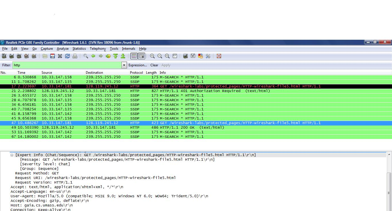 Packet Ysis With Wireshark