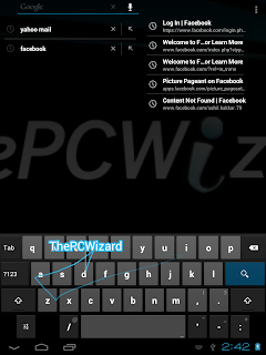 Gesture Typing on Android 4.0.3