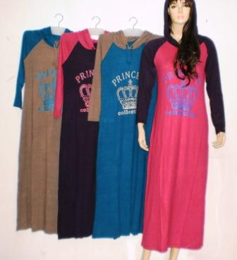 Gamis Hoodie Modern Gkm4359 Grosir Baju Muslim Murah