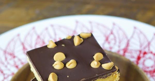 Barritas de mantequilla de cacahuete y chocolate sin horneado