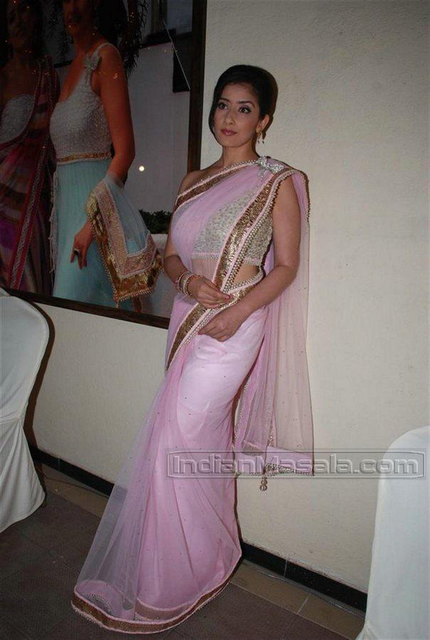 net transparent saree low waist navel show at event photoshoot stills ...