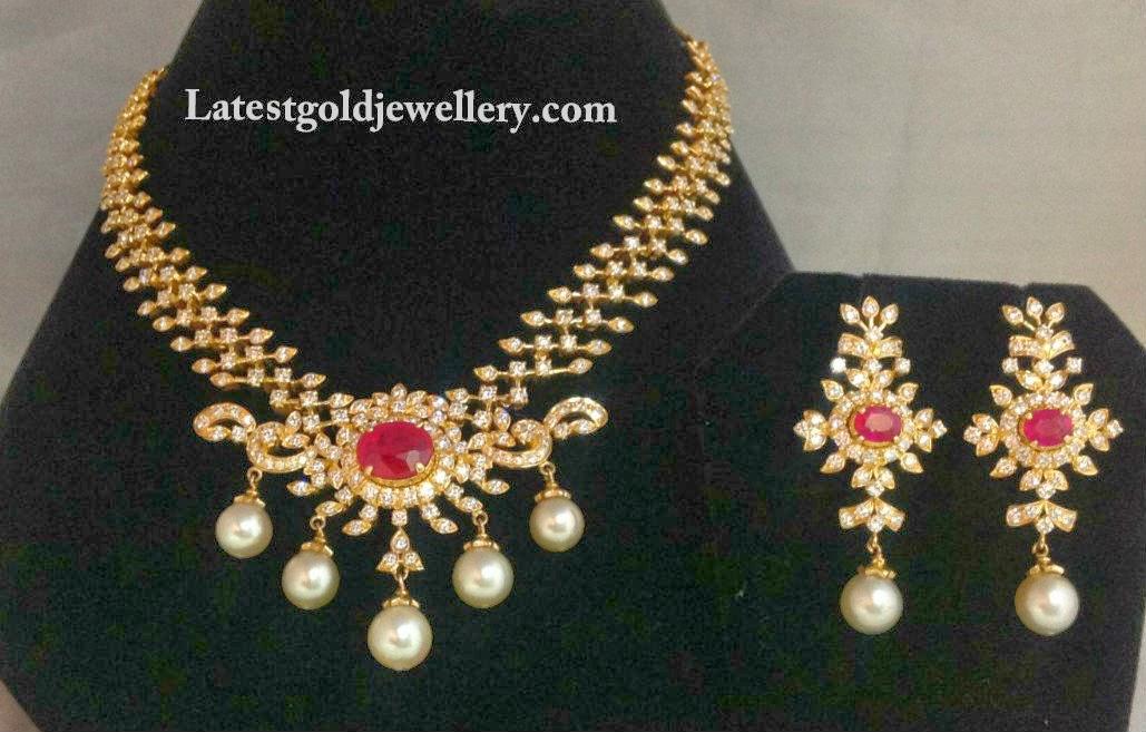 ruby diaomnd necklace