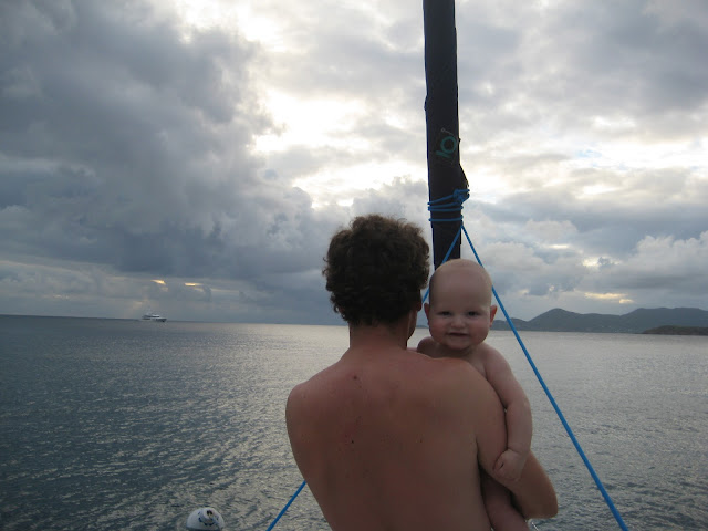 Sailing with a wicked cute 6 month old baby in the BVI