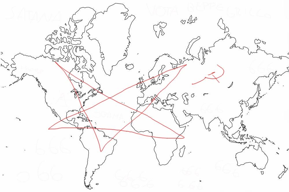 Appunti di un dromedario nella terra dei cammelli for Mappa mondo bianco e nero