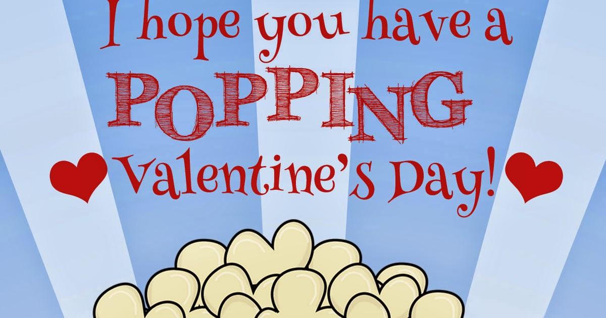 My Fashionable Designs: Free Printable: Popcorn Valentine