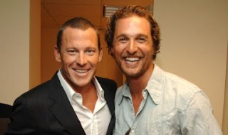 Lance Armstrong and Matthew McConaughey