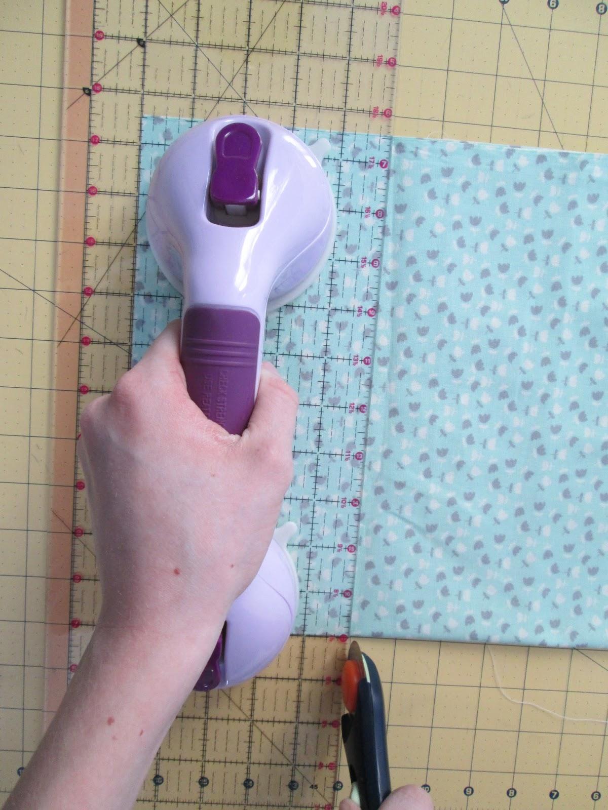 Fabric strip cutter rotary hand