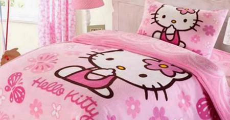 desain kamar tidur tema hello kitty - desain rumah