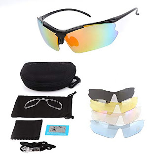 df808e9bca828 kemimoto Polarized Sports Sunglasses Motorcycle Riding Glasses With 5 Lenses  Kits 2019