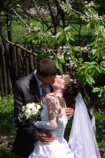 Свадебное фото: черешня цветет - любовь несет