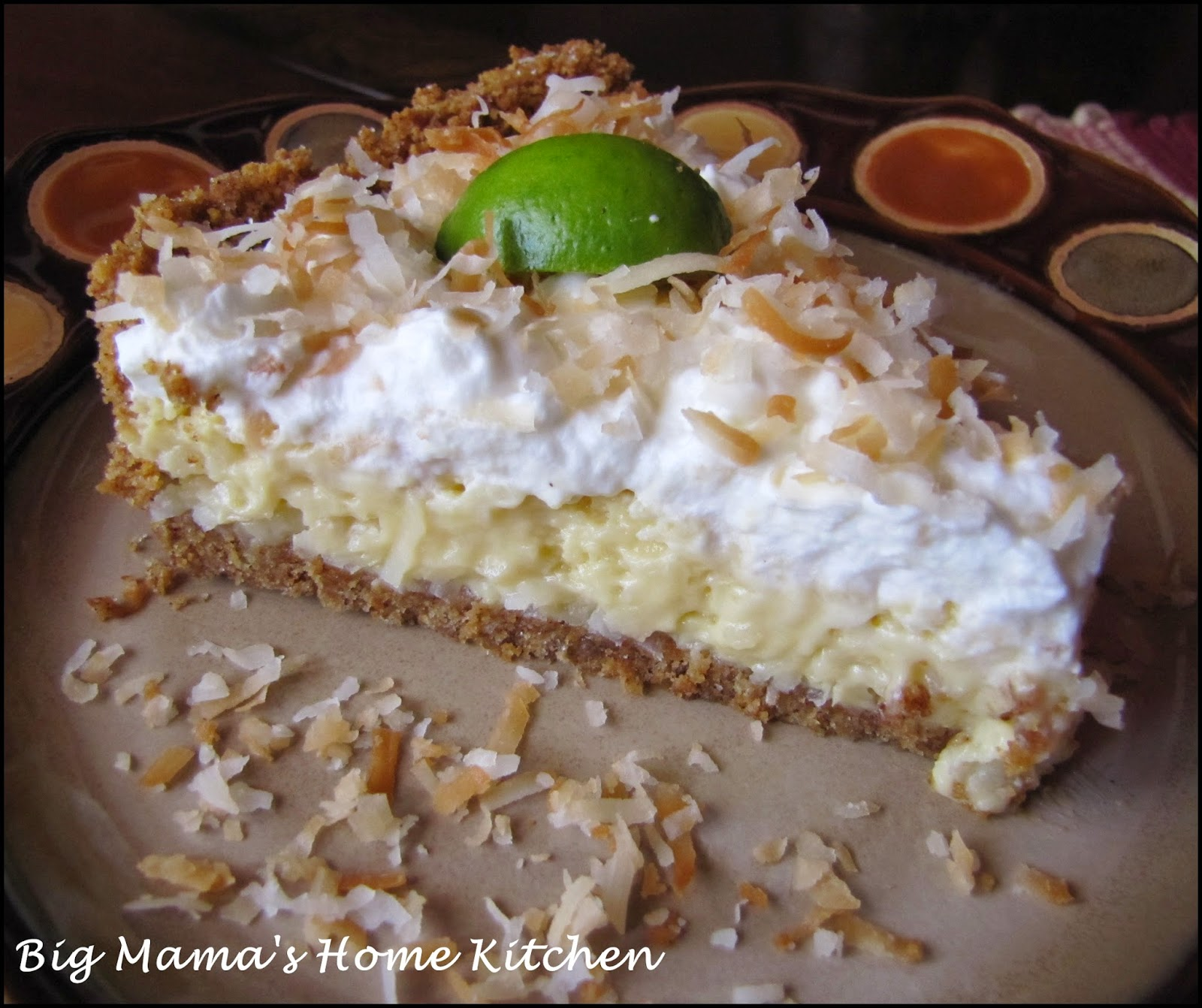 Big Mama's Home Kitchen: Key Lime Coconut Pie